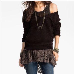 Free people wool linen blend oversized sweater